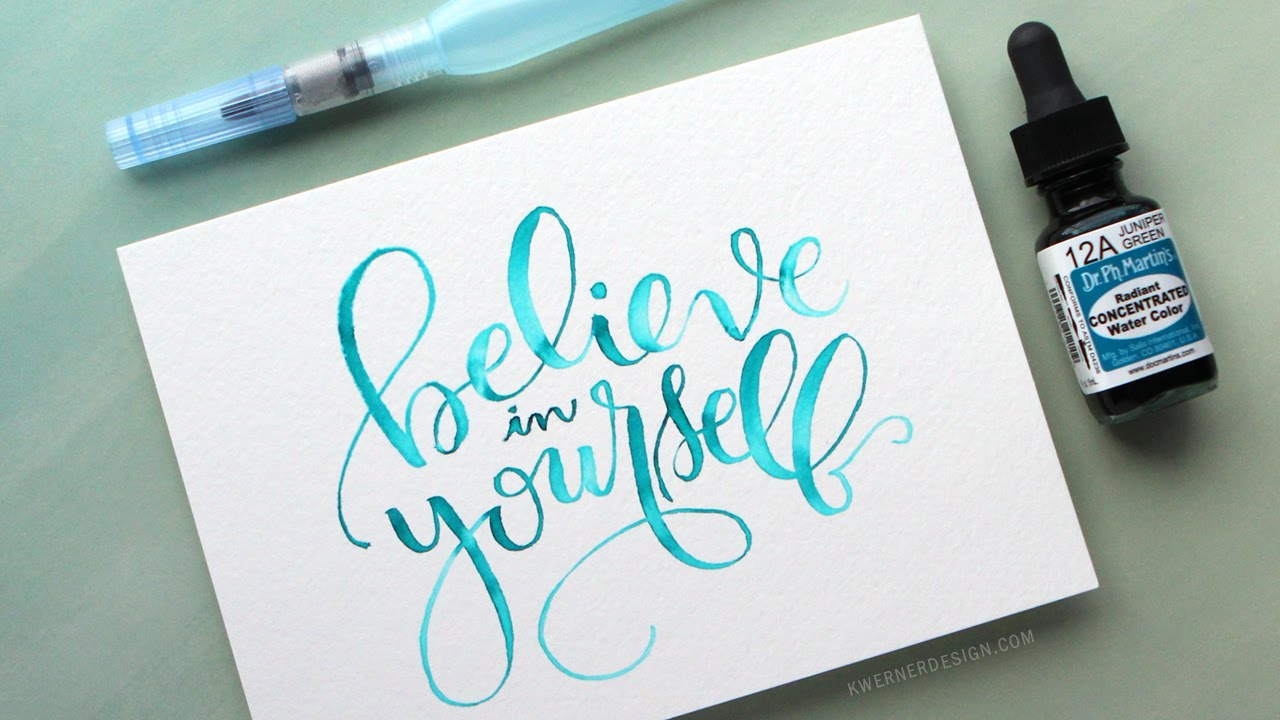 watercolor brush lettering using a light pad youtube