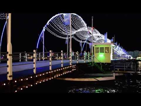 Willemstad, Curaçao - Queen Emma Bridge at Night HD (2016)