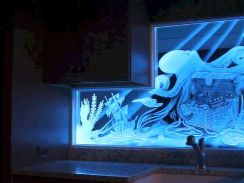 Led Illuminated Carved And Etched Glass Video Youtube