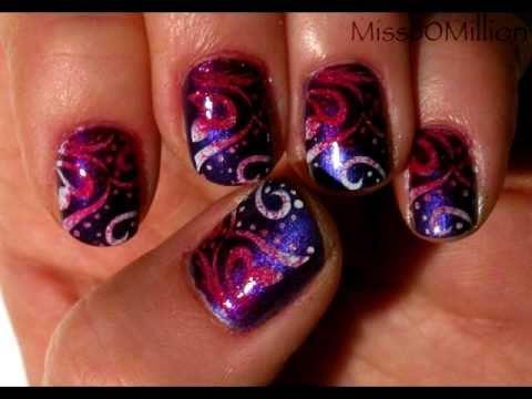 grade pink konad stamping nail art tutorial m64 youtube. Black Bedroom Furniture Sets. Home Design Ideas