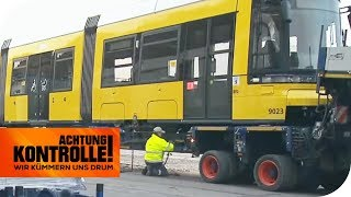 Straßenbahn-Schwertransport in Berlin: Kommen sie rechtzeitig an? | Achtung Kontrolle | kabel eins