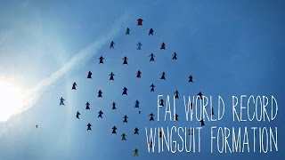 First Ever FAI World Record Wingsuit Formation – 42 Wingsuit Pilots – 18 June 2015