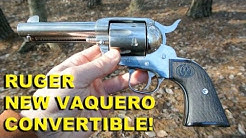 Ruger New Vaquero Convertible! 45LC/ACP Stainless Cowboy Six Shooter