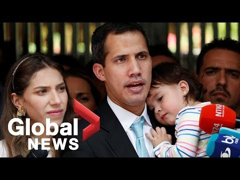 Juan Guaido accuses Venezuela security services of threatening his family