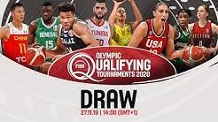 FIBA Olympic Qualifying Tournaments 2020 Draw - Men & Women