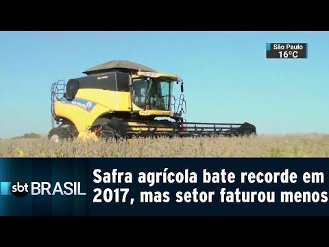Safra agrícola bate recorde em 2017, mas setor faturou menos | SBT Brasil (13/09/18)