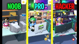 NOOB vs PRO vs HACKER in Idle Streamer! screenshot 3