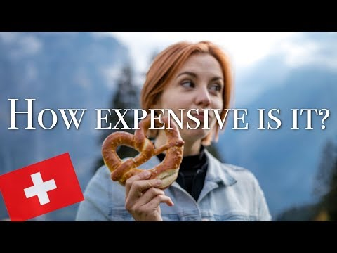 A full day of eating in SWITZERLAND - How expensive is it while travelling? (Vegetarian)