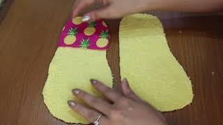 Como Fazer Uma Pantufa Usando A Toalha De Casa