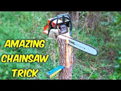 Amazing Chainsaw Trick