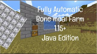 Easy, Automatic and Efficient Bone Meal Farm For 1.15-1.16
