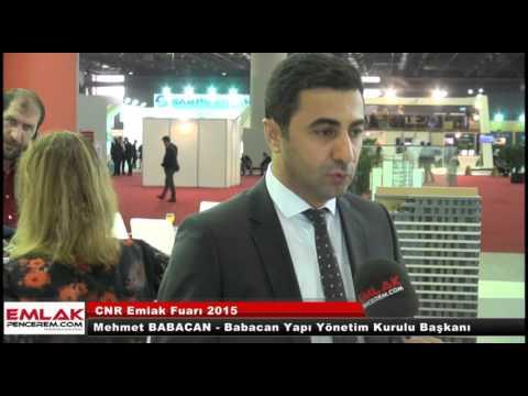Mehmet Babacan CNR Emlak fuarı 2015'te yeni projesi hakkında bilgiler verdi