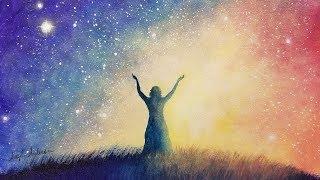 ✨New Beginnings Starry Night Sky LIVE Beginner Acrylic Painting Tutorial