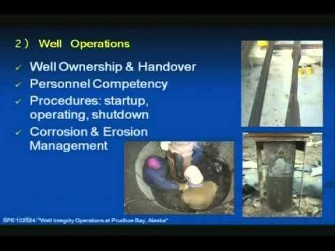 2007-2008: Implementing a Well Integrity Management System