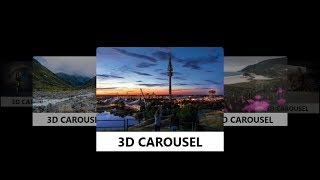 3D Carousel Material Design with HTML, CSS and Jquery