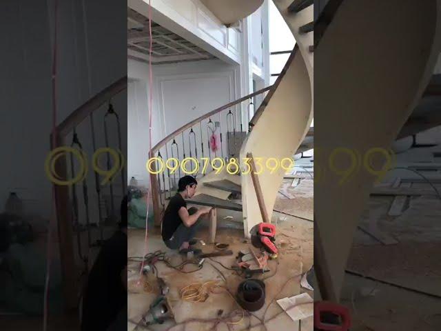 Thi công cầu thang thép xoắn tại Hà Nội và toàn quốc 0907983399