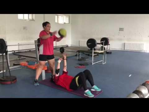 Chinese Female Shot Put Throwers - Shanghai Team - Strength/Power Development