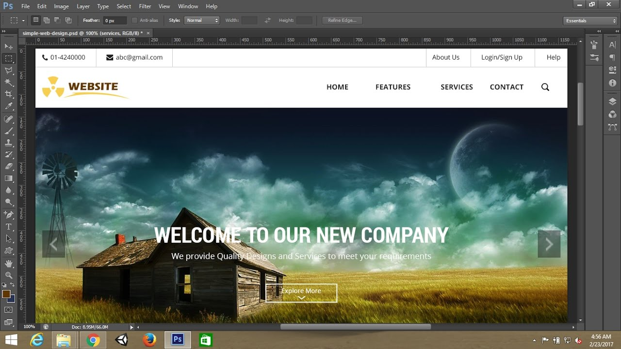 photoshop tutorialsimple webpage template design in photoshop part 1