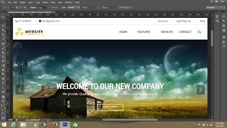 Photoshop tutorial:Simple webpage template design in photoshop - Part 1