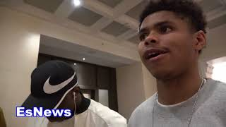WOW Shakur Stevenson Reaction To Sadam Ali KNOCKOUT EsNews Boxing