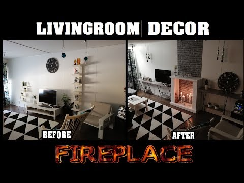 Decor fireplace from recycled wood. DIY Tutorial