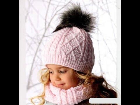 Детский комплект шапочка,снуд и варежки.Часть №1
