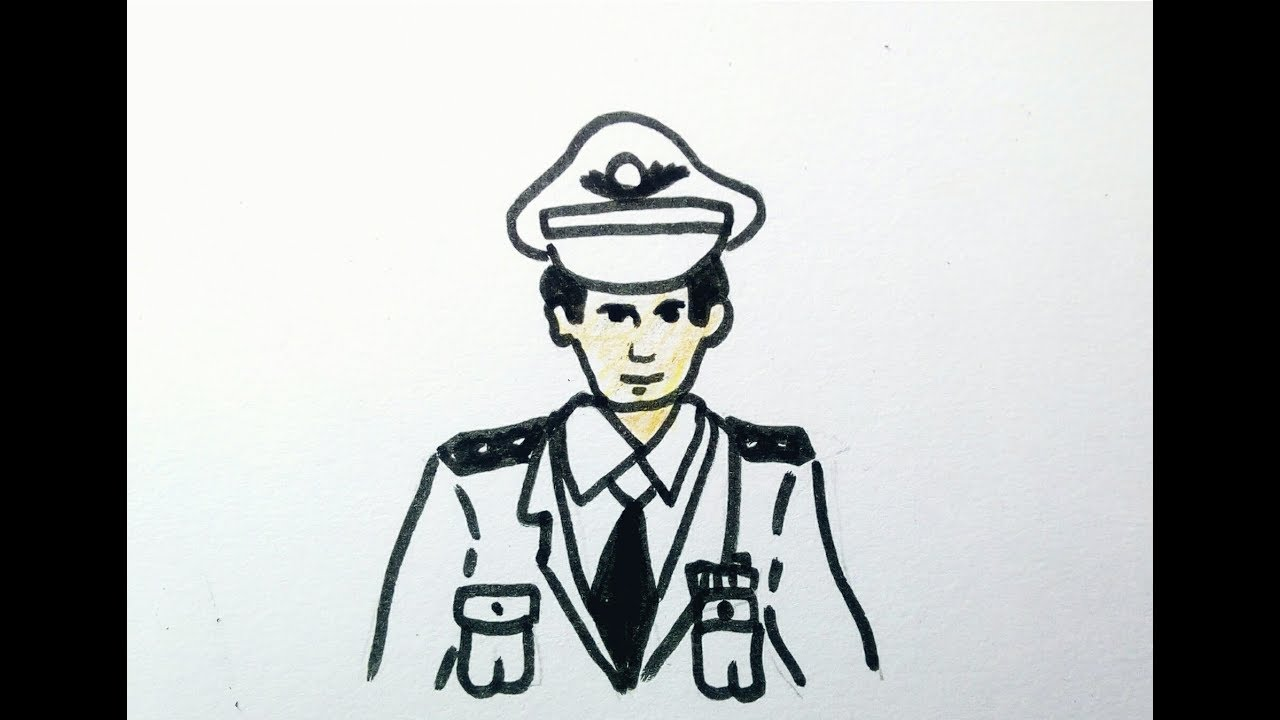 رسم رجل الشرطة