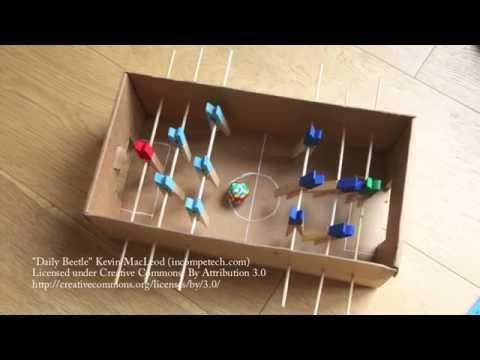 Comment fabriquer un babyfoot dans une botie chaussures - Fabriquer une boite a bijoux avec une boite a chaussure ...