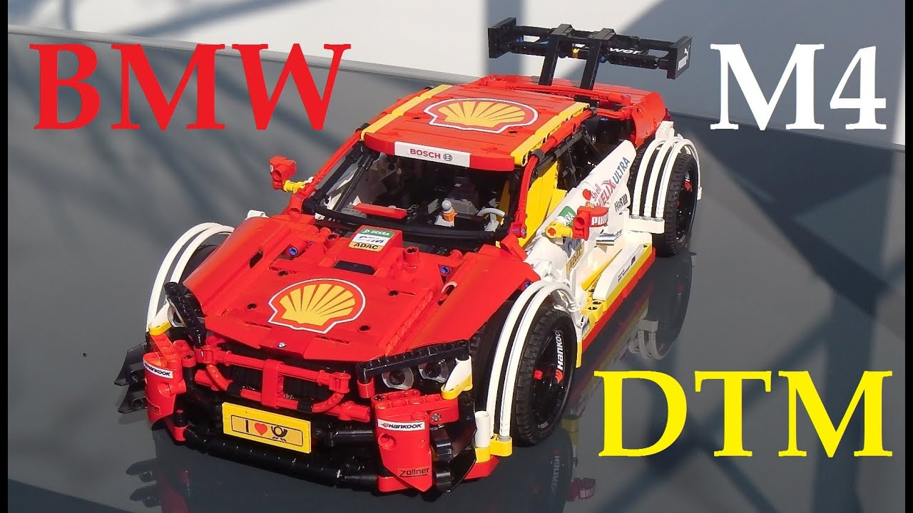 Lego Technic Bmw Dtm M4 Rc With Moc Chasis And Pf Youtube