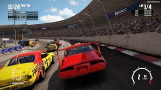 Wreckfest - Dragslayer at Hilltop Stadium Figure 8 Circuit Gameplay [Modified Monsters Car Pack]