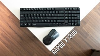 Rapoo X1800 review | Affodable Wireless Mouse Keyboard Combo