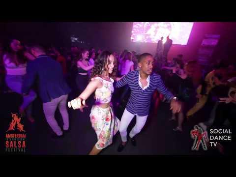 Jose Diaz & Daphne Cats - Salsa social dancing   Amsterdam International Salsa Festival 2019