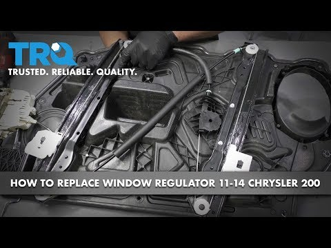 How To Replace Front Driver's Side Window Regulator And Motor 11-14 Chrysler 200