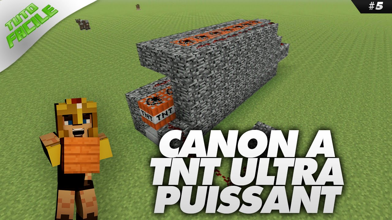 Canon tnt ultra puissant minecraft tuto facile 5 - Desherbant total puissant ...