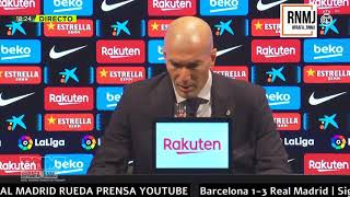 Rueda de prensa de ZIDANE post Barcelona 1-3 Real Madrid (24/10/2020)