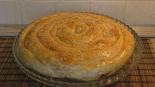 Пирог с творогом и зеленью