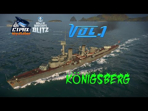 WOWS BLITZ Флот СТРАХ : Konigsberg V