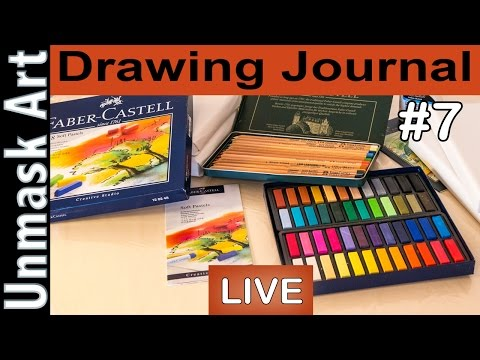 "Drawing Journal LIVE #7 ""Trying Pastels for the Very FIRST Time"""