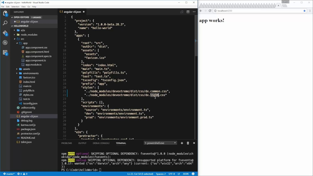 Angular and DevExtreme -- Getting Started