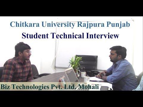 Chitkara University Rajpura Student Technical Interview