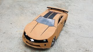 Як зробити електричний супер автомобіль іграшки з картону дуже проста | Шевроле Камаро