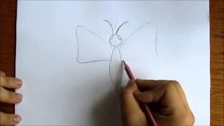 как нарисовать бабочку(бабочка простым карандашом легко и просто., 2014-05-17T11:53:14.000Z)