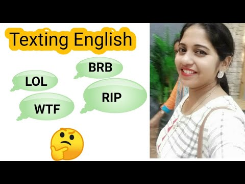 SMS English| Meaning And Full Forms | BRB | LOL | RIP | BTW | ROFL | And Many More