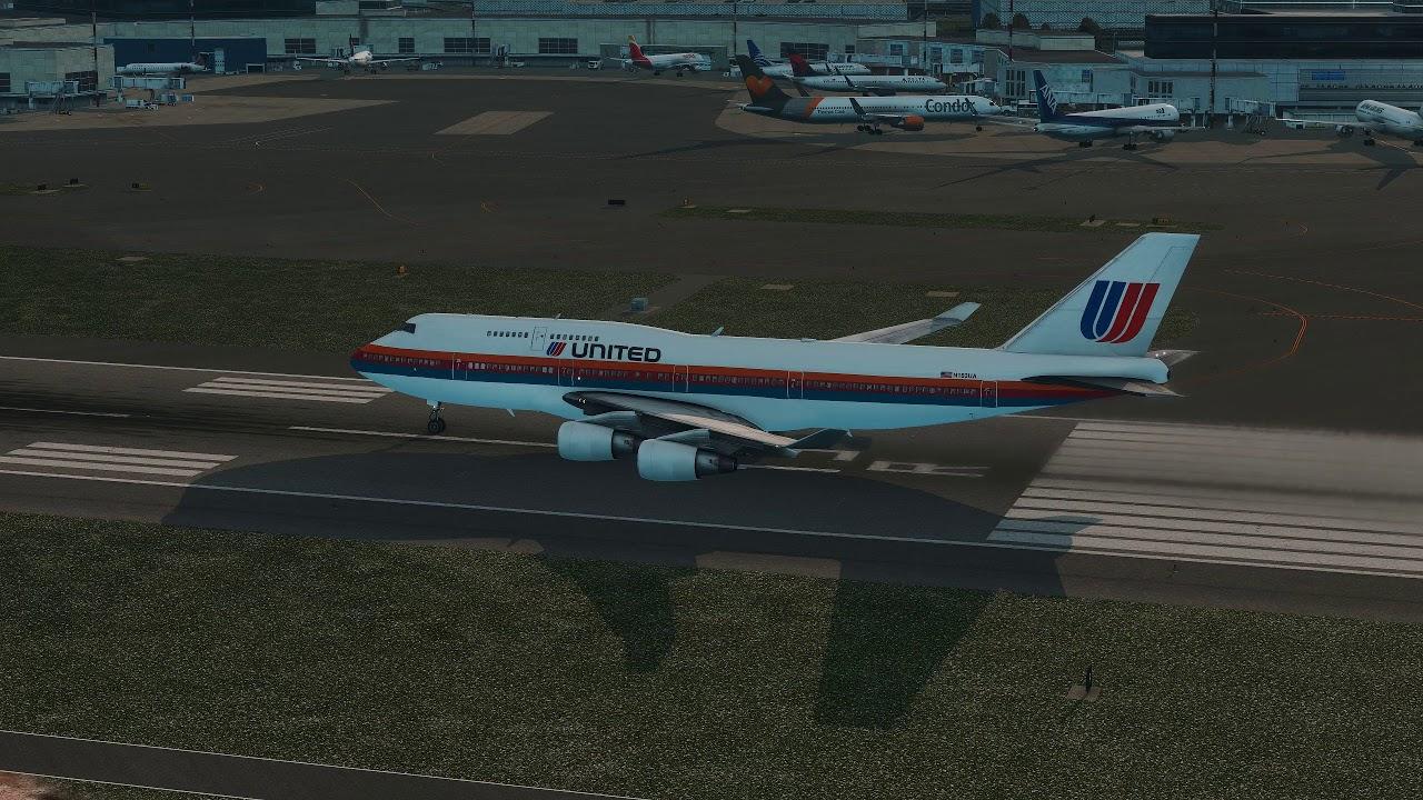 Boeing 747-400 Crash after Take Off [Engine Failure] - X-Plane 11