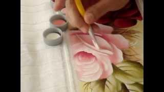 Pintura de rosas com Marcia Gama de Mello