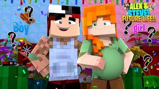 Minecraft IS TEEN ALEX HAVING A BABY BOY OR A BABY GIRL??? Future Life of Alex & Steve