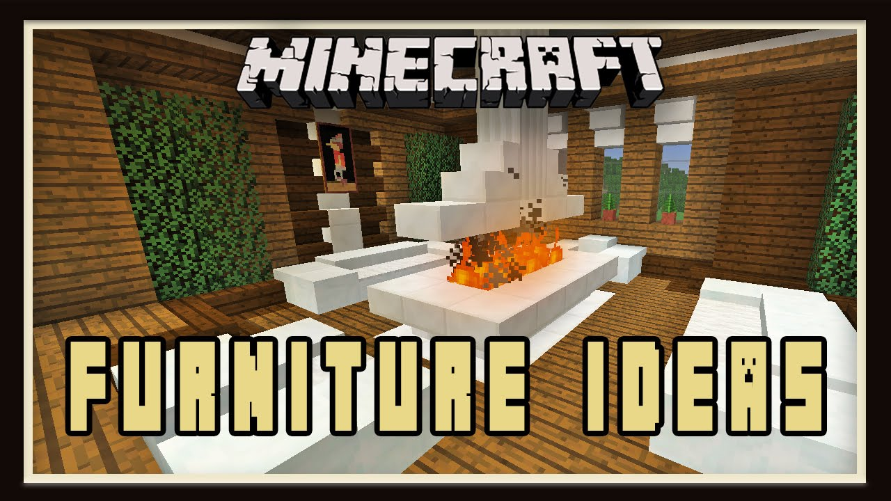 Modern Living Room Minecraft minecraft: interior design for a living room (modern house