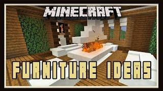 Minecraft: Interior Design For A Living Room   (Modern House Tutorial Ep. 21)