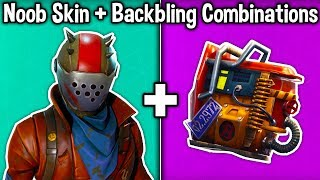 5 NOOB SKIN + BACKBLING COMBOS in Fortnite! (these combinations look trash)