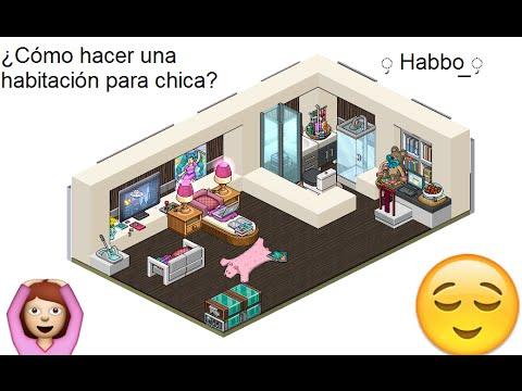 Habbo: ¿Cómo hacer una habitación para Chica?♥-w- Ft. Katy ...